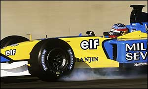 A Renault car during testing