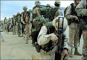 US troops prepare to leave for Kuwait