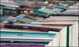 Books for sale in book shop