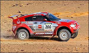Japanese driver Hiroshi Masuoka