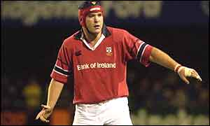 Munster and Ireland number 8 Anthony Foley