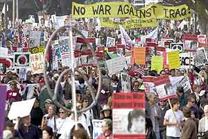 LA anti-war march