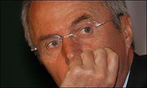 England football coach Sven-Goran Eriksson