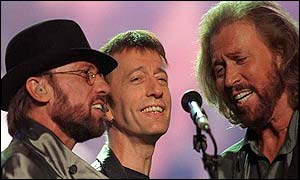 Marice (L), Robin (C) and Barry (R) Gibb