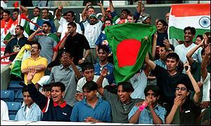 Fans in Bangladesh cheer on their team