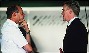 McLaren team boss Ron Dennis and Max Mosley, president of motorsport's governing body, the FIA