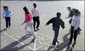 Children in a school playground