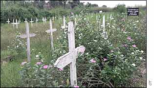 Graves of DR Congo's war dead