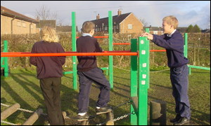 The playground has given children something to do