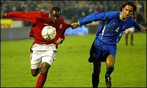 Emile Heskey in action against Slovakia