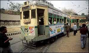 Public tramway, Dalhousie Square, Calcutta