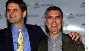 AOL Time Warner executive chairman Steve Case and former chief executive Gerald Levin