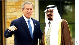 President Bush and Crown Prince Abdullah