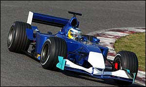 Nick Heidfeld in the Sauber C22