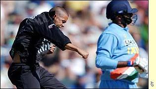 Adams celebrates a wicket