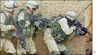 US soldiers training in southern Afghanistan