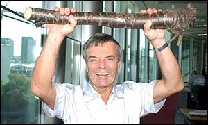 Tony Blackburn, winner of the UK version of I'm A Celebrity