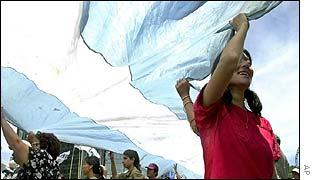 Argentine demonstrators in Buenos Aires