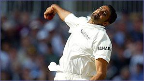 Indian leg spinner Anil Kumble