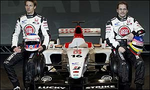Jenson Button (left)  and Jacques Villeneuve