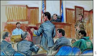 Courtroom sketch at John Lee Malvo hearing