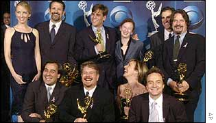 The West Wing stars at the Emmy Awards 2001