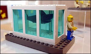 damien hirst lego shark