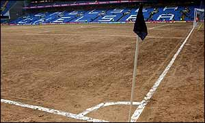 Stamford Bridge before it was relaid after the Charlton game