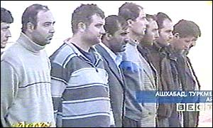Russian TV footage of the suspects