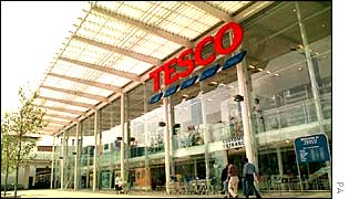 Front of one of Tesco's stores