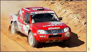 Ari Vatanen in the Nissan
