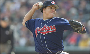 Bartolo Colon before his trade from Cleveland to Montreal