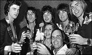 Tam Paton (front) and the Bay City Rollers