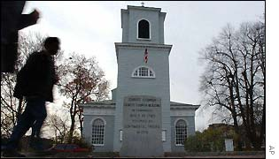 Christ Church in Cambridge, Mass, was built in 1760, an outpost of the Church of England