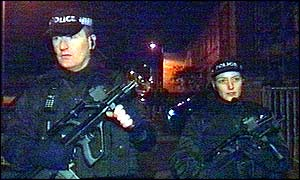 Armed police on the streets of Bristol