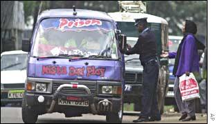 Minibus driver in Nairobi, Kenya