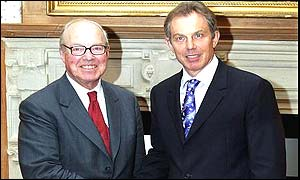 Hans Blix and Tony Blair