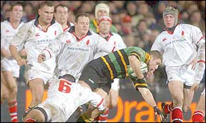 Ben Cohen was Northampton's try-scorer against Ulster