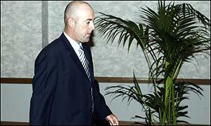 Lehmann leaves the hearing in Adelaide