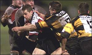 Chris Paterson is halted by Newport