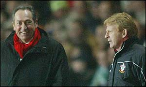 Liverpool boss Gerard Houllier and Southampton manager Gordon Strachan