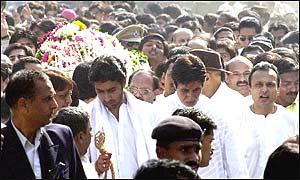 Funeral procession of Harivansh Rai Bachchan