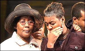 Charlene Ellis's mother Beverley Thomas (right)