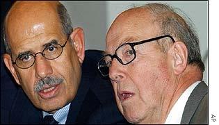 Mohamed ElBaradei (left) and Hans Blix (right)