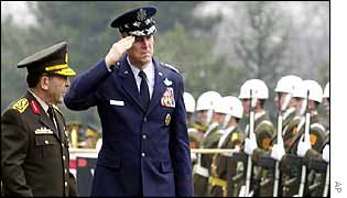 General Myers takes salute at Turkish parade