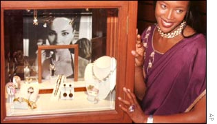 model Naomi Campbell and Indian jewellery