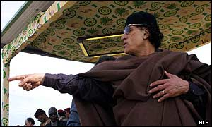 Colonel Gaddafi of Libya