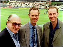 Henry Blofeld, Christopher Martin-Jenkins and Jonathan Agnew
