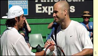 Andre Agassi is the tournament favourite
