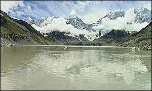 Imja glacier lake in eastern Nepal